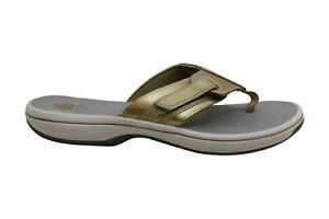 CLARKS Womens Brinkley Athol Open Toe Casual Sport Sandals, Gold, Size 9.0
