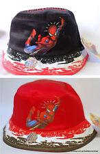 NEW SPIDER-MAN BUCKET HAT 'Spider Sense' COTTON - BOYS/GIRLS - Red/Black 50/52cm