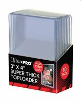 (10 Pack) Ultra Pro Super Thick 120pt Toploader Card Holders Great For Relics