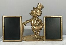 Scrooge McDuck Brass Office Set - Double Picture Frame - Walt Disney Prod NEW