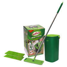 Sabco Rinse N Wring NO TOUCH Complete Flat Mop Set + 2 Microfibre Refills