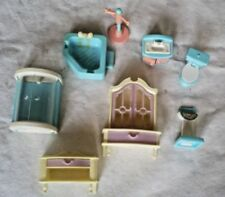Bedroom Plastic Miniature Furniture for Dolls