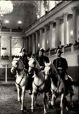 Wien s/w AK 1962 Spanische Reitschule Pas de Trois drei Reiter Manege Pferde