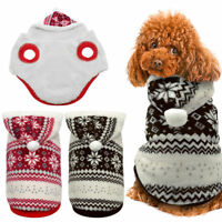 Warm Pet Dog Sweater Hoodie Clothes for Small Dogs Soft Pet Costume Apparel