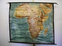 Wandkarte Deutsche Afrika Kolonien hier Mandate DOA SWA 160x142cm ~1925 vintage