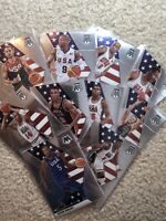 2019-20 Panini Prizm Mosaic Team USA (10-Card) Set Magic Curry Bird Ewing