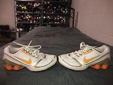 RARE 2007 Nike Shox Rhythmic Womens Running Training Shoes Size 6.5 White Orange