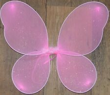 NEW Pink net fairy wings with glitter Adult childrens party hen do fancy dress