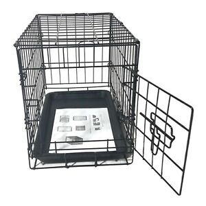 "20"" Pet Kennel Dog Cat Puppy Folding Metal Crate Animal Playpen Cage Portable"
