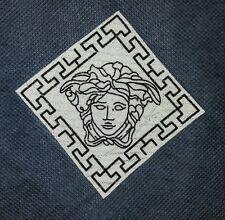 Medusa Versace Print Iron on White Patch Cap T Shirt Jacket Bag diy + FREE SHIPP