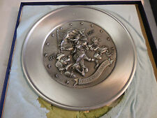 Disney America On Parade Pewter Plate Limited Edition Mickey Goofy Donald