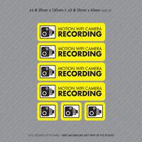 7 x Motion WiFi Camera Recording Stickers CCTV In Car Dash Video Sticker SKU4060