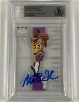 MAGIC JOHNSON Signed 2012-13 Elite GLASS MASTERS clear Lakers Auto card ~BGS BAS