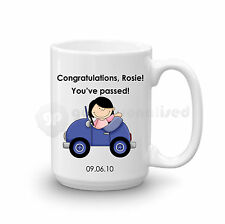 Personalised Congratulations Passed Driving Test Gift Large Mug For Girls Lady#1