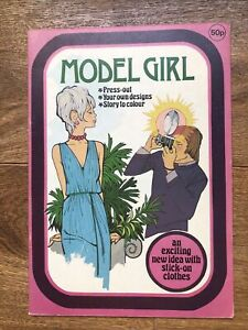 Vintage Model Girl Paper Doll Book, 1977, Uncut From The U.K.