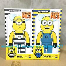 Bearbrick Medicom 2018 Despicable Me 3 Minions Dave & Mel 400% Set Be@rbrick