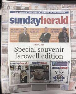Sunday Herald Special Souvenir Farewell Edition 1999-2018 Rare 3 Copies Left