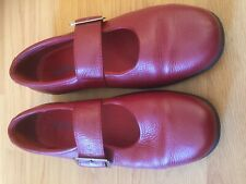 Ladies Red Leather Padders Size 6