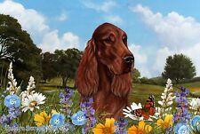 Best of Breed Floor Mat IRISH SETTER Summer Flowers by Tamara Burnett