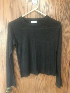 Fitigues Women Gray Long Sleeve Top size S small petite