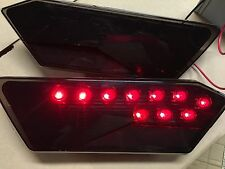 16-17 POLARIS RZR XP TURBO -BLACK LED TAIL LIGHTS PAIR -tinted smoked USA