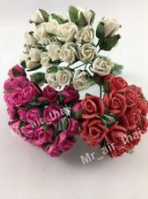 75 Rose Scrapbook Craft Mulberry Paper Flower Bouquet Wedding Dollhouse