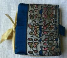 Antique Hand Sewn Tapestry Fabric Needle Case