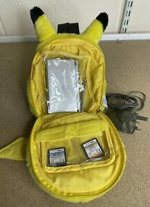 Bundle Official Nintendo DS Pikachu Pokemon Plush Case & Silver DS Lite & Games
