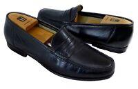 Santoni Men's Black Penny Loafer Leather Shoes 11.5 EE