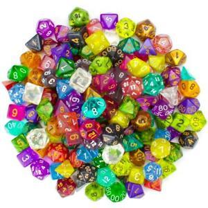 100+ Mixed Random Bulk Lot Wiz Dice DND Polyhedral Gaming Dice (Series 2 Colors)