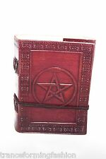 5x3.5 Handmade Leather Journal diary Celtic Pentagram Book of Shadow wicca