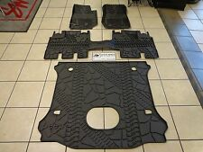 15-17 Jeep Wrangler New All Weather Floor Mat Mats Set of 4 Cargo Mat with Sub