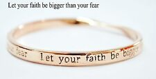 STERLINA Mi MILANO Sentimental Braver Message Bangle Bracelet Gift Rose Gold