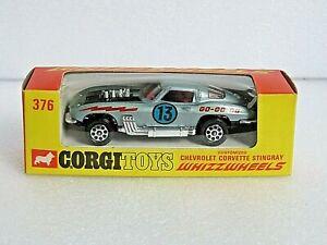 CORGI 376 WHIZZWHEELS CHEVROLET CORVETTE STINGRAY. STUNNING MODEL IN SUPERB BOX.