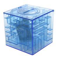 1X(Banco del laberinto de dinero cubico de plastico Caja de coleccion de ah Y4M2