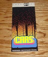 Original 1987 Chevrolet Passenger Car Exterior Colors Brochure 87 Camaro