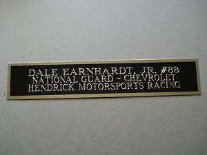Dale Earnhardt Jr. NASCAR Nameplate For A Racing Jacket Display Case 1.5 X 8