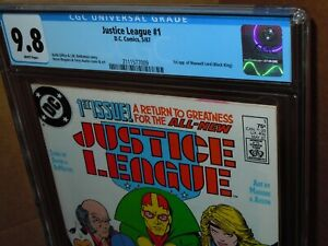 Justice League #1 CGC 9.8 Graded DC Comics (1987) 1st App. Maxwell Lord 🔑🔑