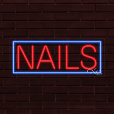 Brand New Nails Withborder 32x13x1 Inch Led Flex Indoor Sign 30093