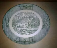 """Royal China Grist Mill Green Dinner Plate 9"""""""