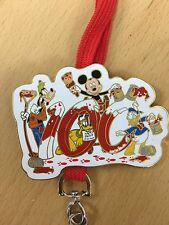 Disney Lanyard Pin Cast Exclusive Wet Paint Mickey Goofy Pluto Donald Rare LE