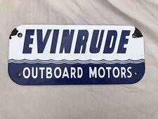 Used Evinrude Outboard Boat Motors Porcelain Advertising Sign