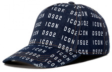 Dsquared2 Jeans Denim Icon Logo Baseball Cap Baseball Hat Cappy
