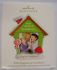 NEW 2012 HALLMARK CHRISTMAS TREE ORNAMENT WHAT HAPPENS AT GRANDMAS PHOTO HOLDER