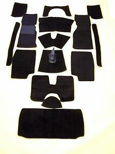 TRIUMPH TR4A, 250, TR6 BLACK LOOP CARPET KIT  CRAZY  PRICE WITH 20 OUNCE PADDING