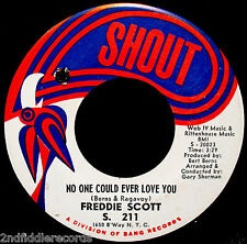 FREDDIE SCOTT-Cry To Me & No One Could Ever Love You-Northern Soul 45-SHOUT #211