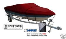 Wake Monsoon Premium Boat Cover Fi V Hull Fishing boat 12-14 FT Burgandy