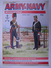 ARMY AND NAVY MODELWORLD - April 1987 - Military Modeller Magazine & Modelling