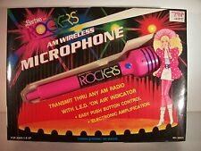 NIB BARBIE DOLL DOLLS ROCKERS 1986 AM WIRELESS MICROPHONE  HTF!!