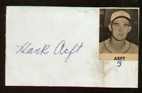 Hank Arft signed autograph auto Vintage Baseball Player Cut d. 2002